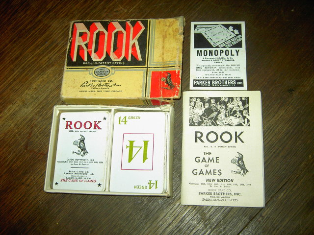 ROOK CARD GAME PARKER BROTHERS DEPRESSION ERA BIDDING TRICK PASTIME