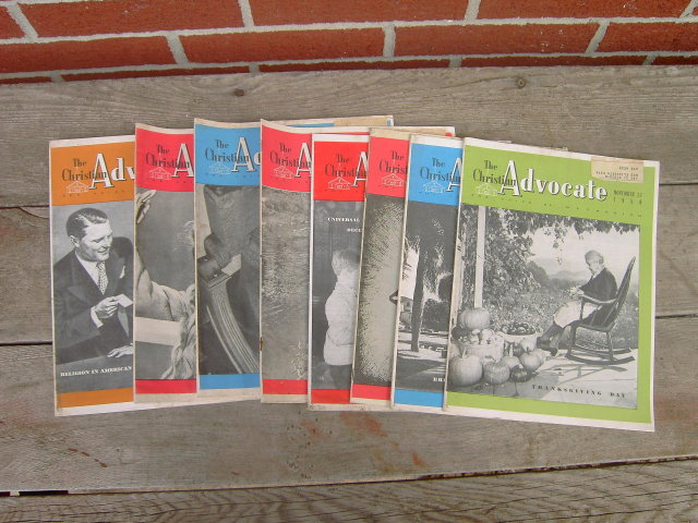 METHODISM CHRISTIAN ADVOCATE MAGAZINE 1950 DEVOTIONAL LITERATURE BIBLE STUDY PUBLICATIONS