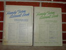 JOHN DEERE MOLINE ILLINOIS FARM ACCOUNT BOOK 1950'S LEDGER CALENDAR BOOKLETS