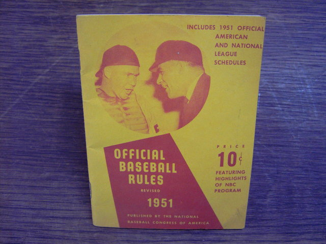 1951 OFFICIAL BASEBALL RULE BOOK COCA COLA COKE BOTTLE ADVERTISEMENT AMERICAN NATIONAL LEAGUE SCHEDULES