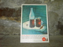COKE ICEBERG ADVERTISING CARD DISPLAY SIGN 1960 COCA COLA