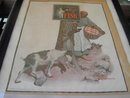 FISK TIRE BLACK MAMMY BILLY GOAT ADVERTISEMENT LEAH THRASHER SIGNED