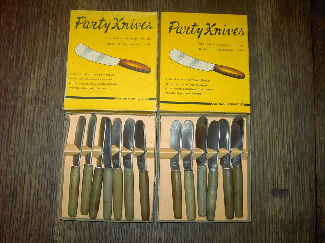 PARTY KNIVES HORS D'OUEVRES UTENSIL STAINLESS STEEL JAPAN ORIGINAL BOXES