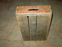 KECKSBURG PENNSYLVANIA PEPSI COLA CRATE SOFT DRINK SODA POP BOTTLE TOTE BOX WOODEN CARRIER CASE