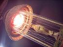 RETRO WICKER RAIN LAMP MINERAL OIL MOTION LIGHT FIXTURE SWAG GODDESS FIGURE