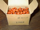 CLOTHING BUTTONS BURNT ORANGE BROWN COLOR ORIGINAL STORE BOX NEW CONDITION