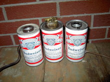 BUDWEISER BEER CAN LAMP LIGHT FIXTURE CIGARETTE LIGHTER