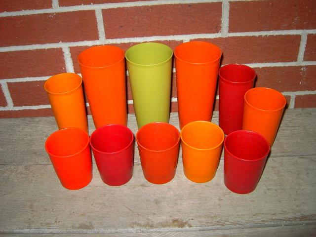 TUPPERWARE TUMBLER CUP PLASTIC GLASSES