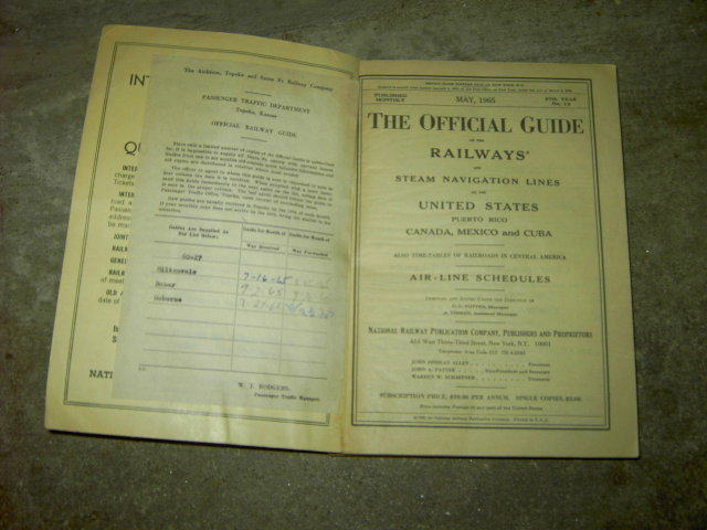 RAILWAY STEAM NAVIGATION AIR LINE SCHEDULE GUIDE PUBLICATION BOOK MAY 1965