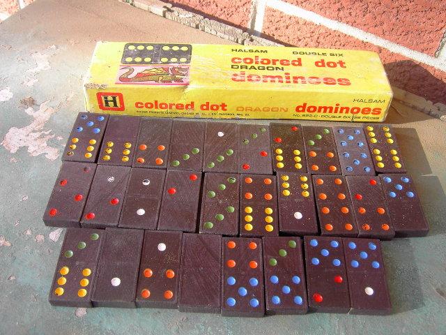 HALSAM DRAGON DOMINOES PLAYSKOOL CHICAGO ILLINOIS BOX