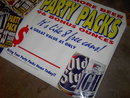 OLD STYLE BEER POSTER LIQUOR STORE ADVERTISING BANNERS
