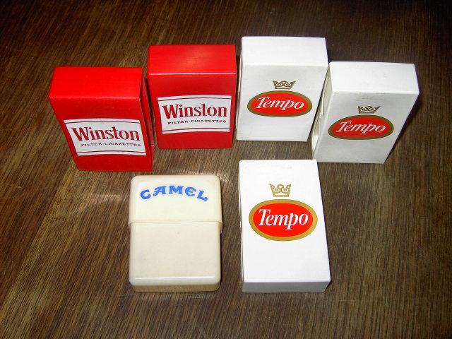 WINSTON TEMPO CAMEL CIGARETTE BOX COVER SLEEVE