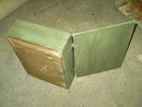 THREAD SEWING BOX EMBROIDERY STORAGE CABINET GREEN UMBER PAINT
