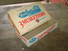 THREE MUSKETEERS CHOCOLATE CANDY BAR BOX CARDBOARD ADVERTISING MARS CHICAGO ILLINOIS