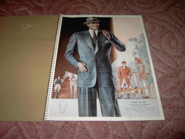 MENS FASHION CATALOG HARRIS WOOLEN COMPANY ST PAUL MINNESOTA 1942 KRAFFT PHILLIPS PHILADELPHIA PENNSYLVANIA