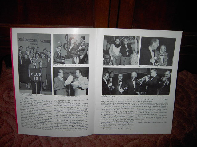 BIG BAND CAVALCADE FESTIVAL PROGRAM BOB CROSBY FREDDY MARTIN RED NORVO HELEN FORREST COLUMBIA NEW YORK 1974 DUNETZ LOVETT