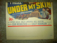 ERNEST HEMINGWAY UNDER MY SKIN MOVIE POSTER 1950 TWENTIETH CENTURY FOX FILM