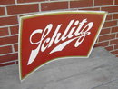 SCHLITZ BEER CARDBOARD SIGN 1958 MILWAUKEE WISCONSIN BREWERY ADVERTISING EMBLEM