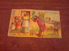 MAMMY NEGRO PEDDLER SALESMAN DOMESTIC SEWING MACHINE ADVERTISING CARD