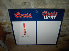 COORS BEER GAME BOARD SCOREBOARD METAL SIGN GAMEROOM TALLEY BILLBOARD