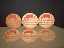 SCHLITZ BEER MRS O' LEARY'S COW CHICAGO FIRE BEVERAGE COASTER ADVERTISING BAR COCKTAIL ACCESSORY