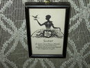 SISTER SILHOUETTE PROFILE PICTURE FRAMED POEM PRINT