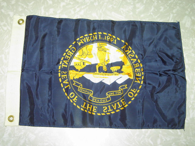 NEBRASKA STATEHOOD FLAG SCHOOL TEACHER ROOM DESK DECORATION