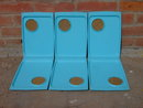 DAVID DOUGLAS TURQUOISE BLUE SNACK TRAY COCKTAIL PLATE HORS D' OEUVRE SERVER