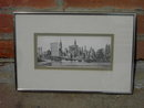 NEW YORK CITY PRINT DRAWING SIGNED FRAMED PICTURE ALEXANDRIA VIRGINIA BLACK ANGEL STUDIO TAG 1973