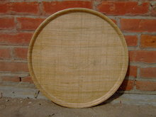 FIBERGLASS STRAW WEAVE RATTAN SERVING TRAY BEVERAGE PLATE RETRO BAR COCKTAIL ACCESSORY