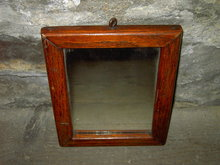 OAK WOOD PICTURE FRAME SMALL MIRROR