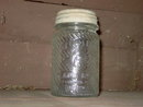 JUMBO ELEPHANT BRAND PEANUT BUTTER JAR GLASS CANNISTER