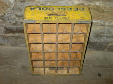 PEPSI COLA TOTE BOTTLE CRATE CARRY CASE LINCOLN NEBRASKA TOWN STAMP