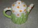 DAISY FLOWER TEAPOT TEA PITCHER BEVERAGE SERVER