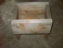 HEAVY WOOD PLANK PLANTER BOX GARDEN PLANT STAND