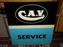CAV DIESEL ENGINE SERVICE SIGN GARAGE MACHINE SHOP WALL ADVERTISING PROP