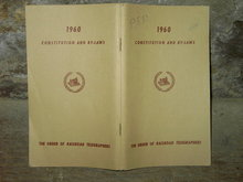 RAILROAD TELEGRAPHERS GUIDE CONSTITUTION BY LAWS 1960 BOOKLET