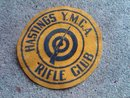 RIFLE CLUB HASTINGS YMCA SWEATER JACKET PATCH DEPRESSION ERA CLUB ORGANIZATION DECORATION
