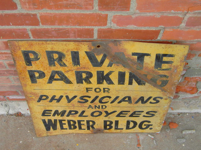 WEBER DOCTOR PHYSICIAN SIGN PATIENT PARKING LOT DIRECTORY WALL ADVERTISING