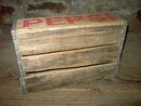 COLORADO SPRINGS PEPSI CRATE SODA POP BOTTLE TOTE WOODEN BOX