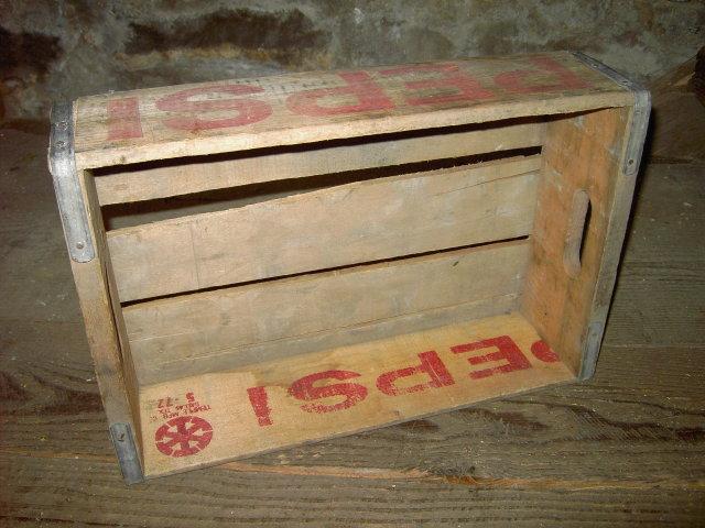 COLORADO SPRINGS PEPSI CRATE SODA POP BOTTLE TOTE WOODEN BOX