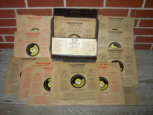 GERMAN DEUTSCH RECORD LINGUAPHONE CONVERSATION COURSE ENGLAND 78 RPM DISK MORSE CODE SIGNAL PREPARATION