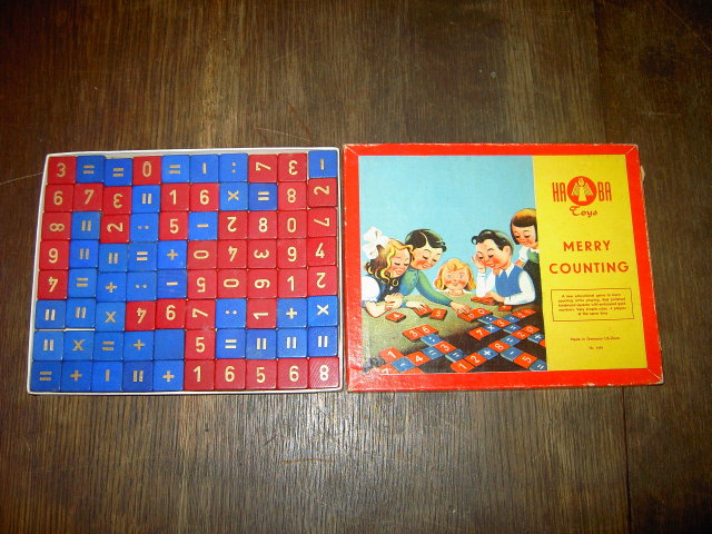 MERRY COUNTING HABA TOYS GERMANY U S A ZONE CHILDRENS PASTIME NUMBER GAME