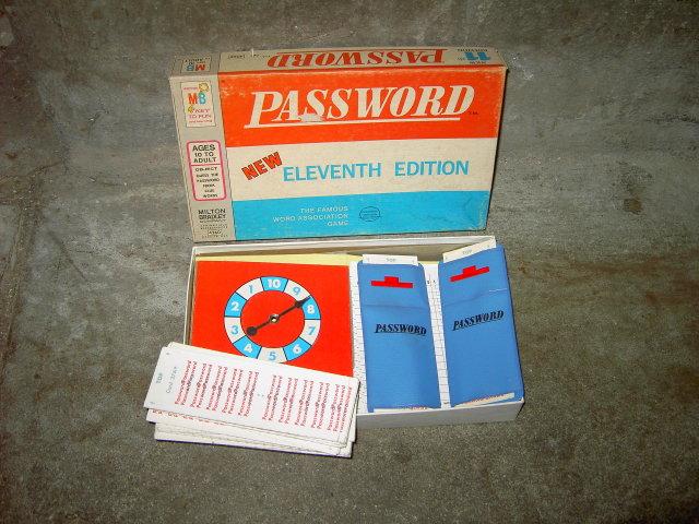 PASSWORD MILTON BRADLEY GOODSON TODMAN PASTIME ACTIVITY GAME