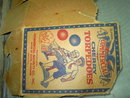 CHERRY TORPEDOE FIRECRACKER BOX PIECE CARDBOARD AD HAVRE DE GRACE MARYLAND COMMERICIAL NOVELTY