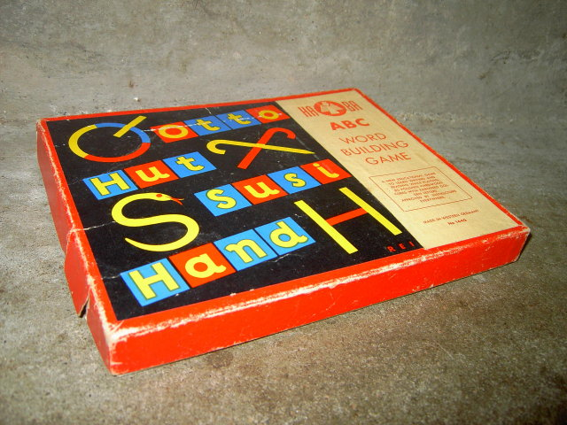 HABA WEST GERMANY WORD BUILDING GAME EDUCATIONAL PASTIME ACTIVITY