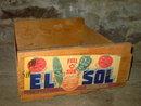 EL SOL FULL O SUN FRESNO CALIFORNIA FRUIT VEGETABLE PRODUCE CRATE BOX TOTE NAT FEINN & SON