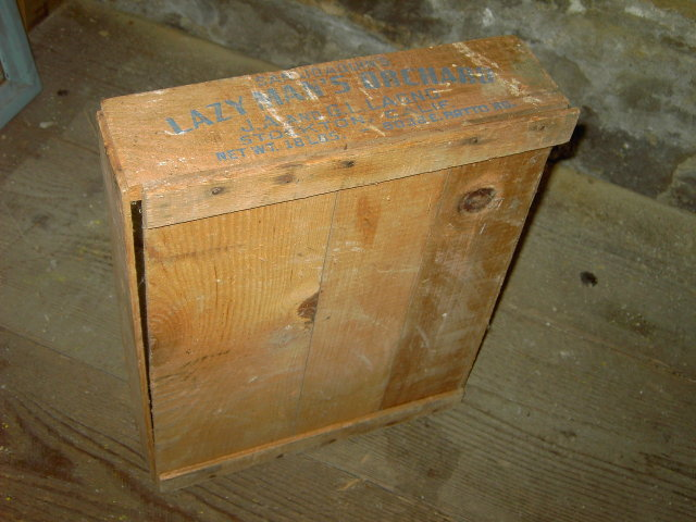 LAZY MAN'S ORCHARD CRATE SAN JOAQUIN VALLEY STOCKTON CALIFORNIA FRUIT BOX PRODUCE TOTE