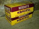 HERSHEYS MILK CHOCOLATE KRACKEL CANDY BAR BOX CARDBOARD ADVERTISING