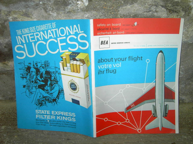 BRITISH EUROPEAN AIRWAYS AIRLINE SAFETY BOOKLET COMMERCIAL AVIATION PASSENGER FLIGHT GUIDE